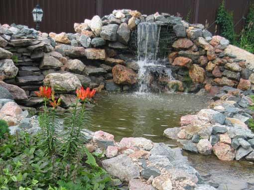 Водопады и ручей своими руками